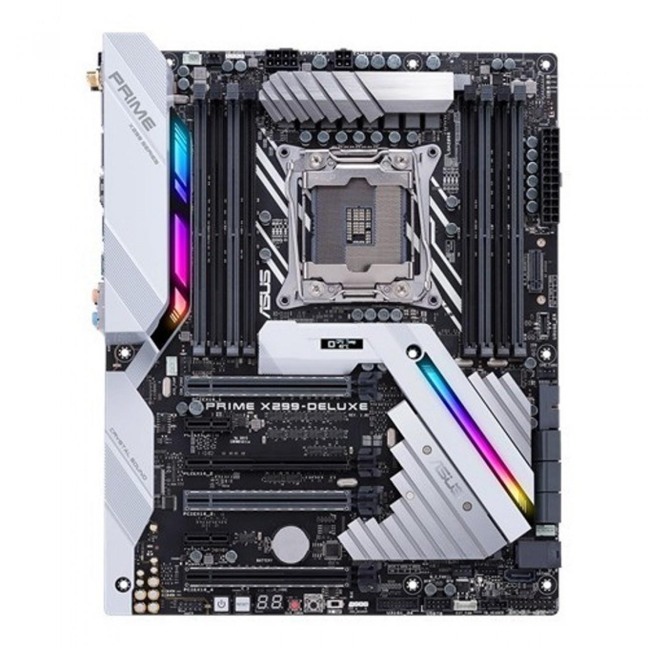Дънна платка Asus PRIME X299-DELUXE, X299, LGA2066, DDR4, PCI-E (CF&SLi), 7x SATA 6Gb/s, 2x M.2, 5x USB 3.0, M.2 Heatsink, Wi-Fi, ATX в Дънни платки за Intel процесори -  | Alleop
