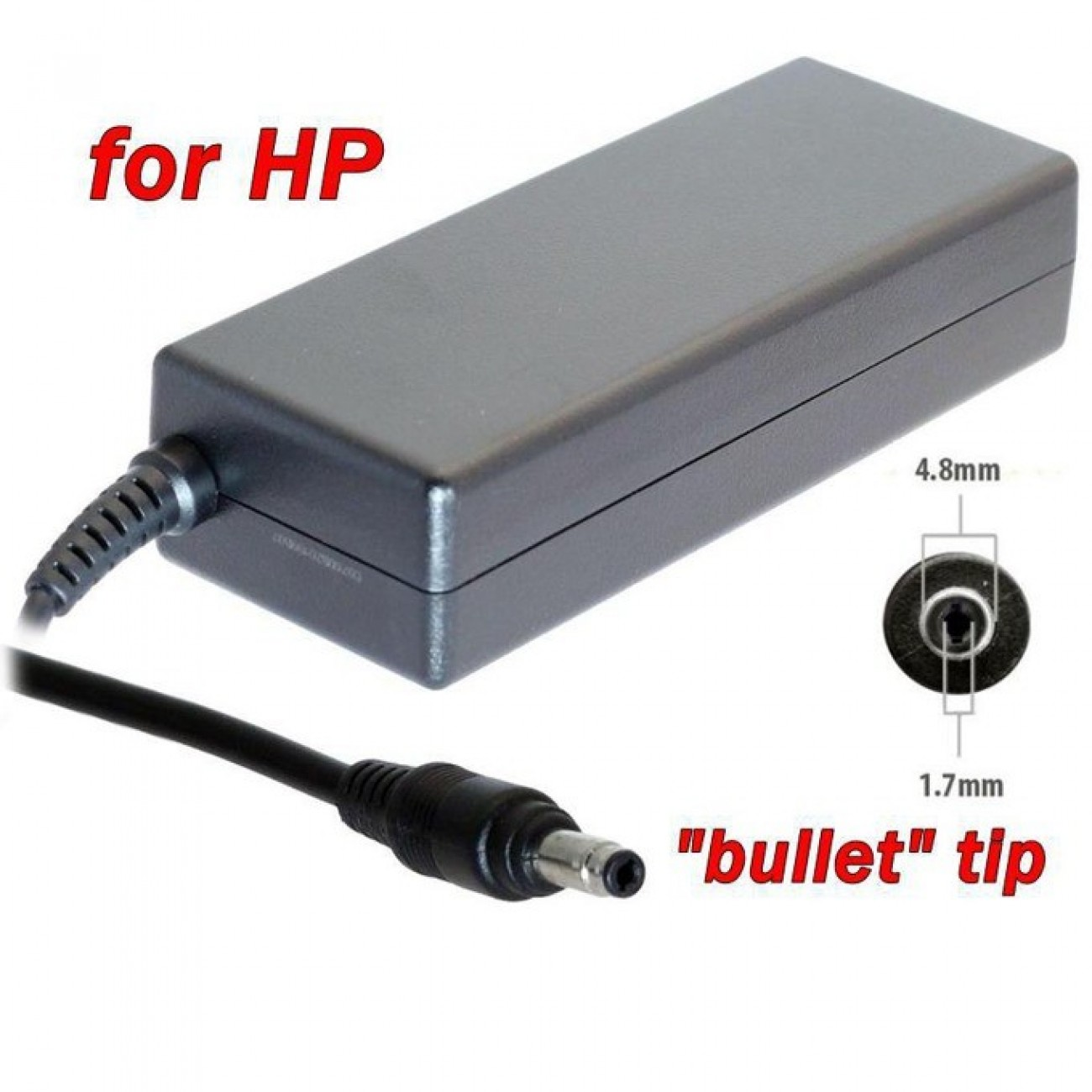 Захранване (заместител) за лаптопи HP, 19V/4.74A/90W, жак (4.8 x 1.7) в Захранвания за Лаптопи -  | Alleop