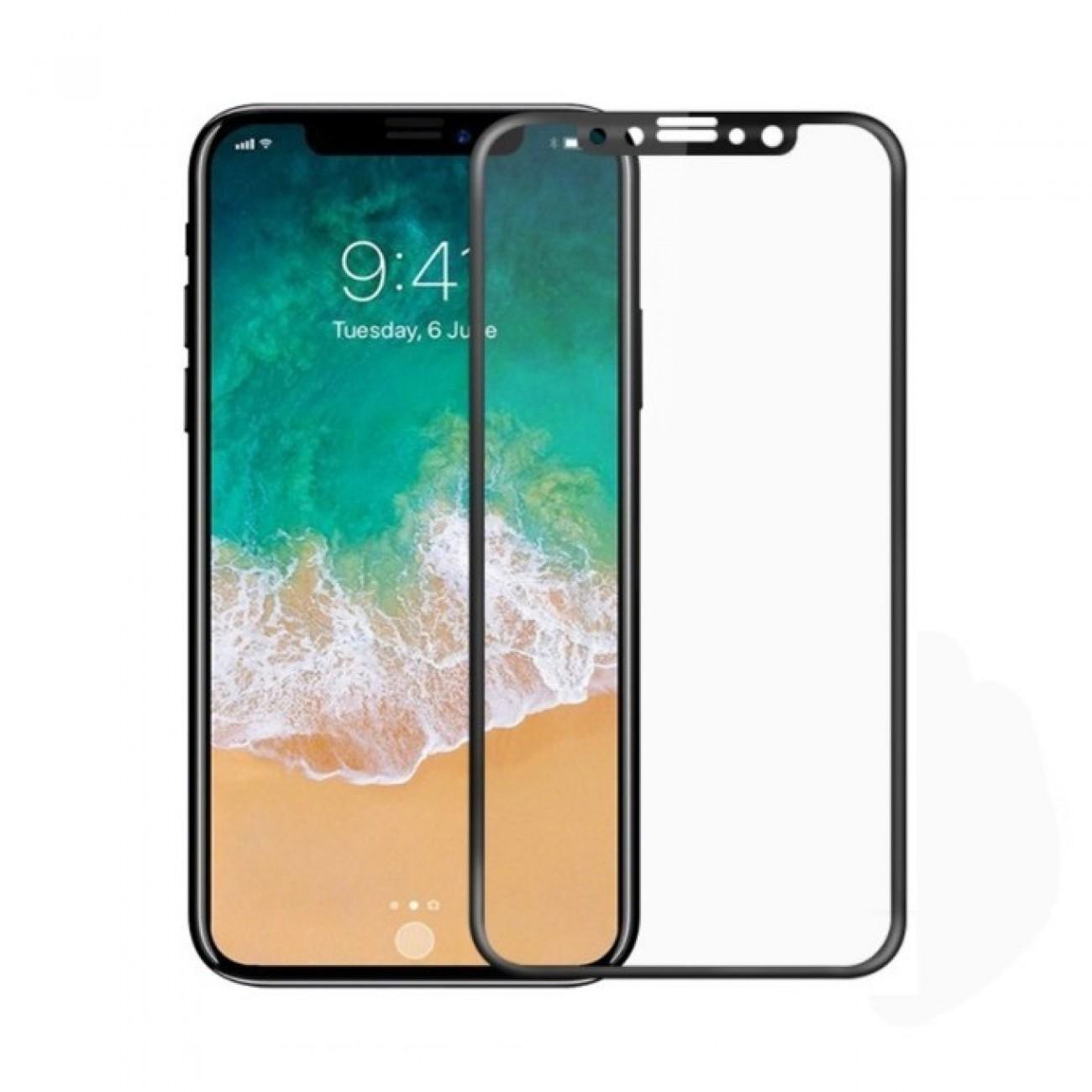 Протектор от закалено стъкло /Tempered Glass/ Remax Proda Full Glue, за iPhone X, черен в Защитно фолио -    Alleop