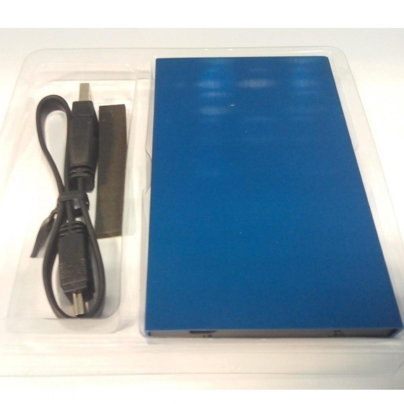 Кутия Estillo за SSD диск 2.5, USB 3.0, синьо в Твърди дискове Аксесоари -  | Alleop