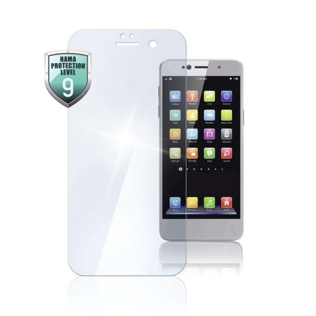 Протектор от закалено стъкло /Tempered Glass/ Hama Premium Crystal Glass 178996 за Huawei P Smart в Защитно фолио -  | Alleop