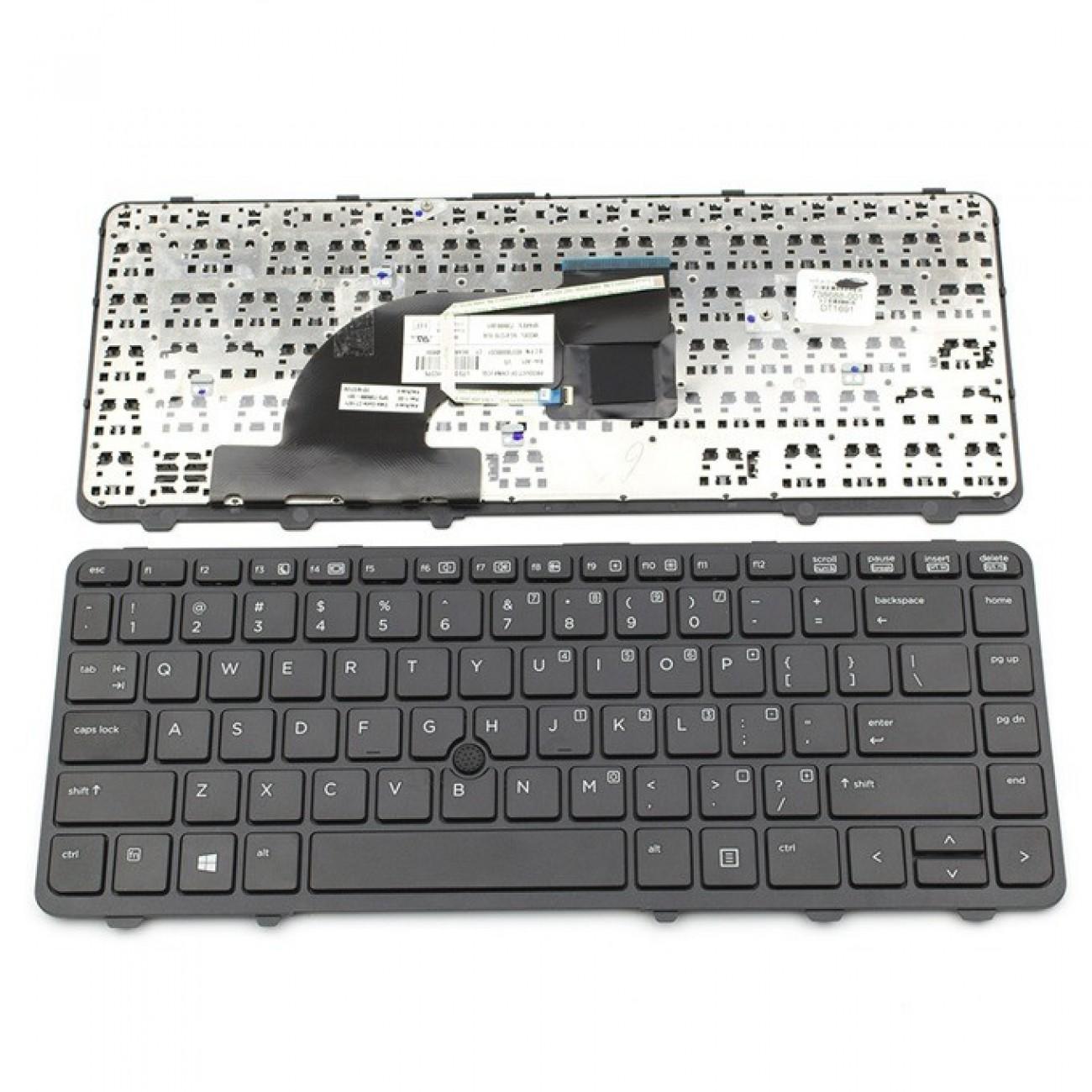 Клавиатура за HP ProBook 640 G1/645 G1, US, с рамка, черна в Резервни части -    Alleop