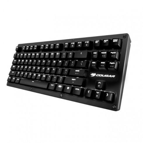 Клавиатура Cougar Puri TKL(Red Cherry Switches), гейминг, механична, магнитен капак за пренасяне, сваляем кабел, програмируема бяла подсветка, високопрофилни клавиши, без Numpad, черна, USB в Клавиатури -  | Alleop
