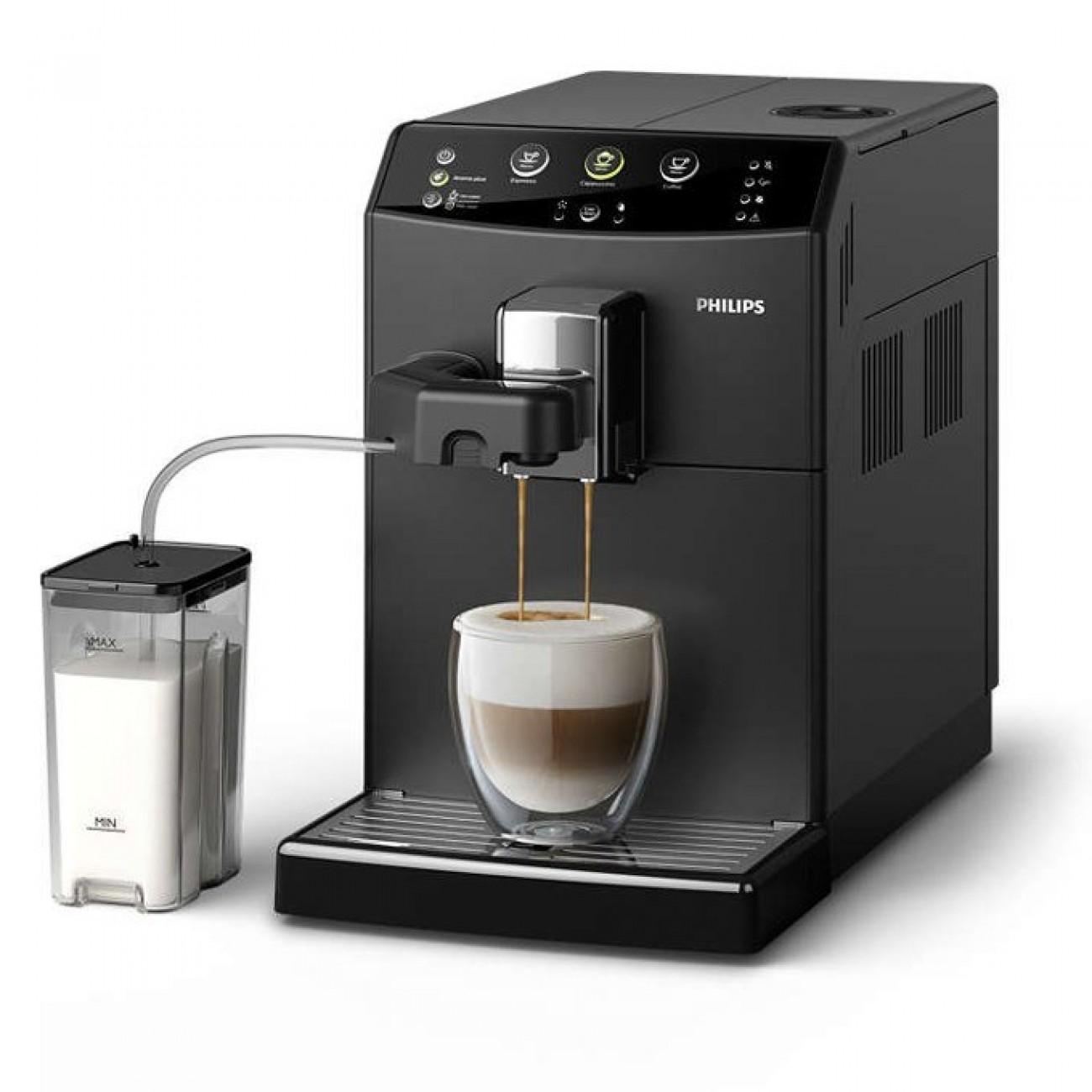 Автоматична еспресо машина Philips HD 8829 / 09, 1850 W, 15 bar налягане, Easy Cappuccino System, черна в Кафемашини -  | Alleop