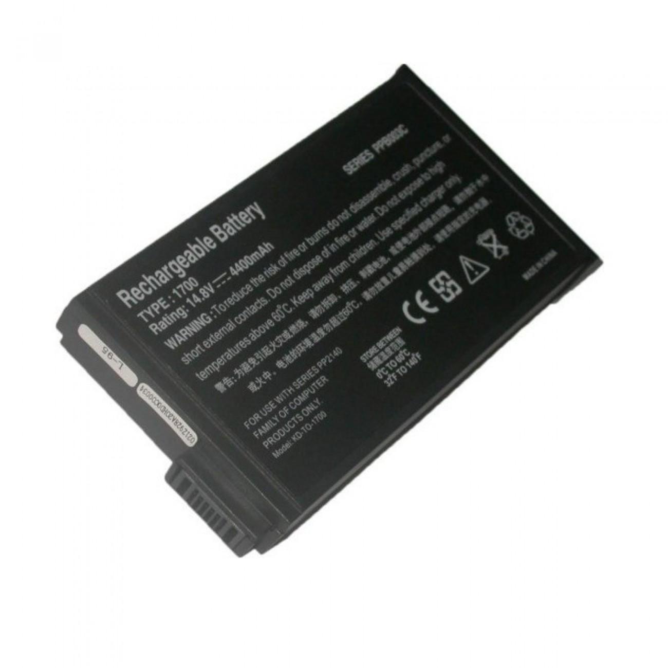 Батерия за HP Compaq, съвместима с  EVO N1000/NC6000/NC8000/NX5000/Presario 1700/1500, 8cell, 14.4V в Батерии за Лаптоп -    Alleop