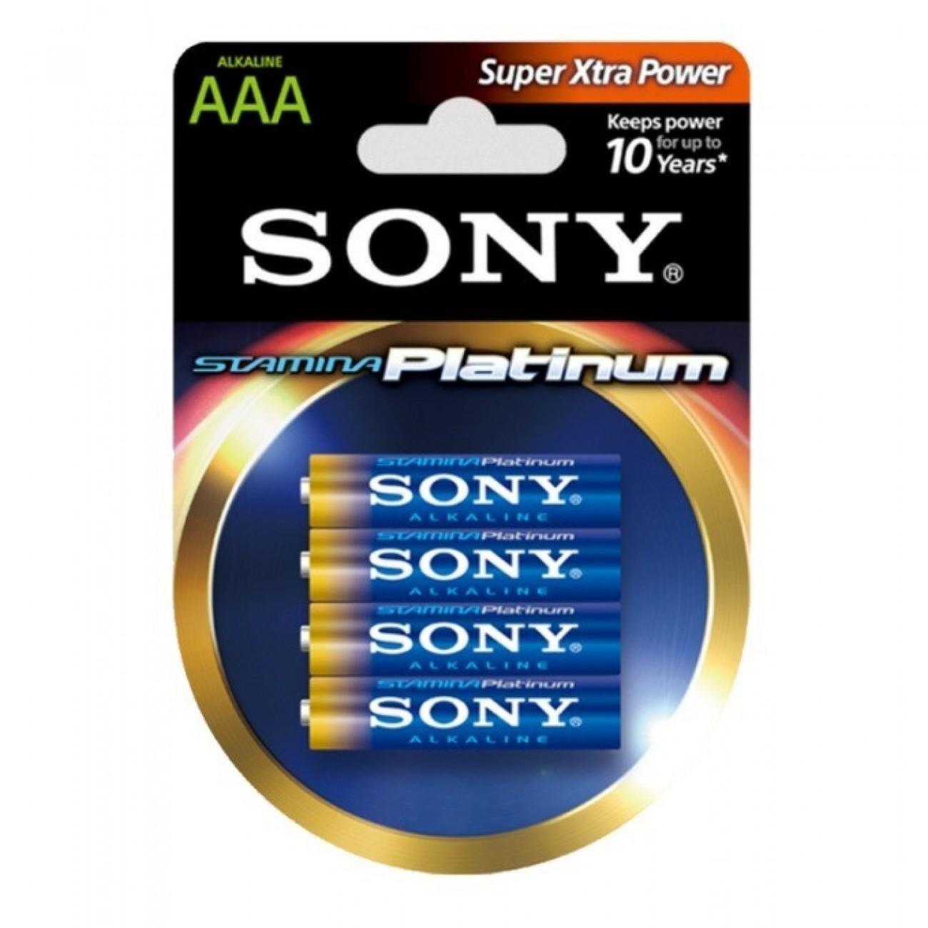 Батерия алкална Sony AM4PTB4D R03 Stamina Platinum, 1.5V, 4бр. в Стандартни Еднократни батерии -  | Alleop