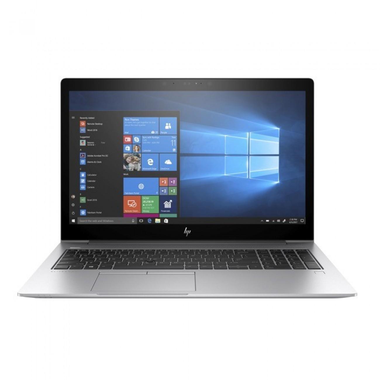 Лаптоп HP EliteBook 850 G5(3JX50EA)(сребрист), четириядрен Kaby Lake R Intel Core i7-8550U 1.8/4.0 GHz, 15.6(39.62 cm) Full HD IPS UWVA дисплей(HDMI), 16GB DDR4, 512GB NVMe TLC SSD, 1x USB Type C, Windows 10 Pro, 1.93 kg в Лаптопи -  | Alleop