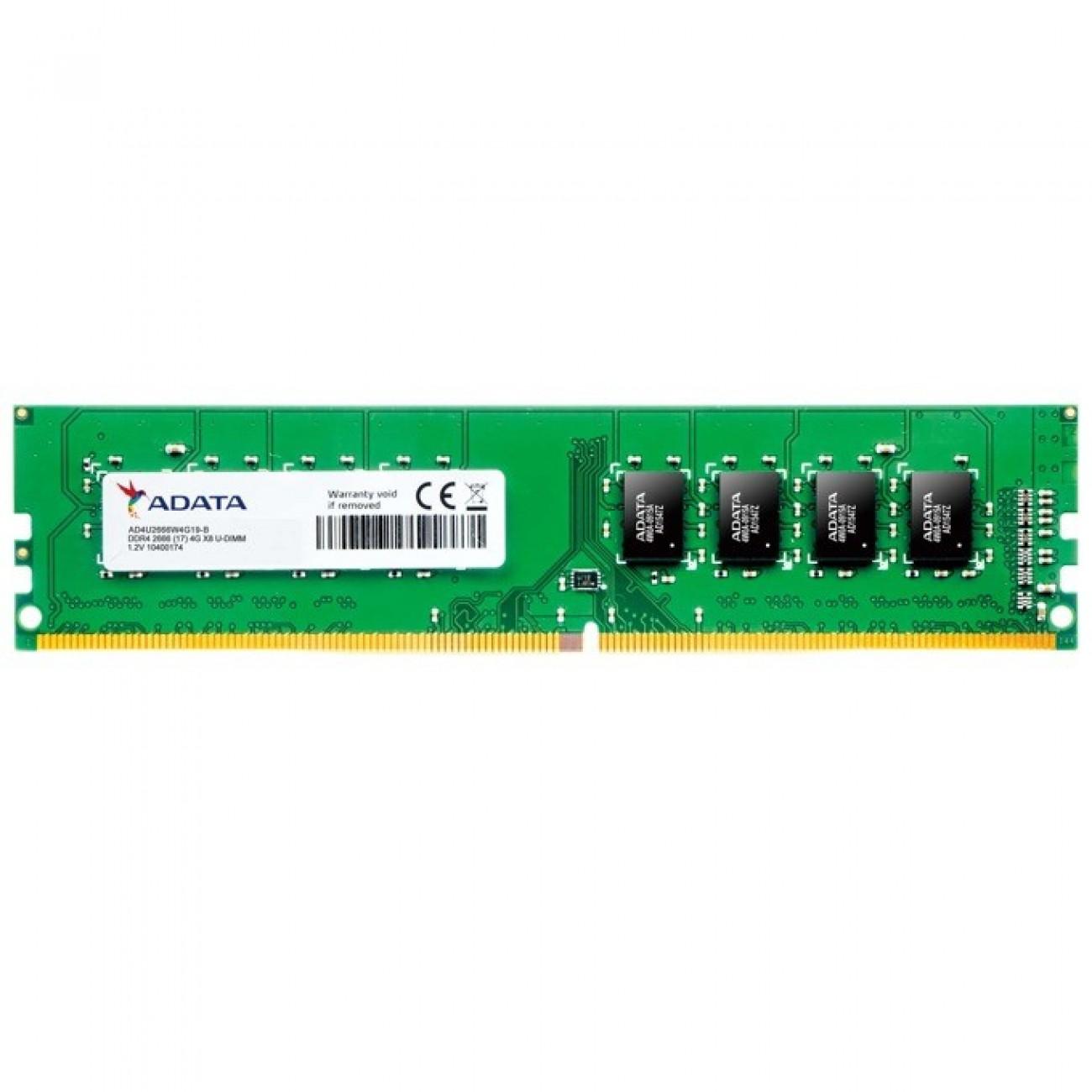 8GB DDR4 2666MHz, UDIMM, A-Data AD4U266638G19-B, 1.2V в Настолни компютри Памети -    Alleop