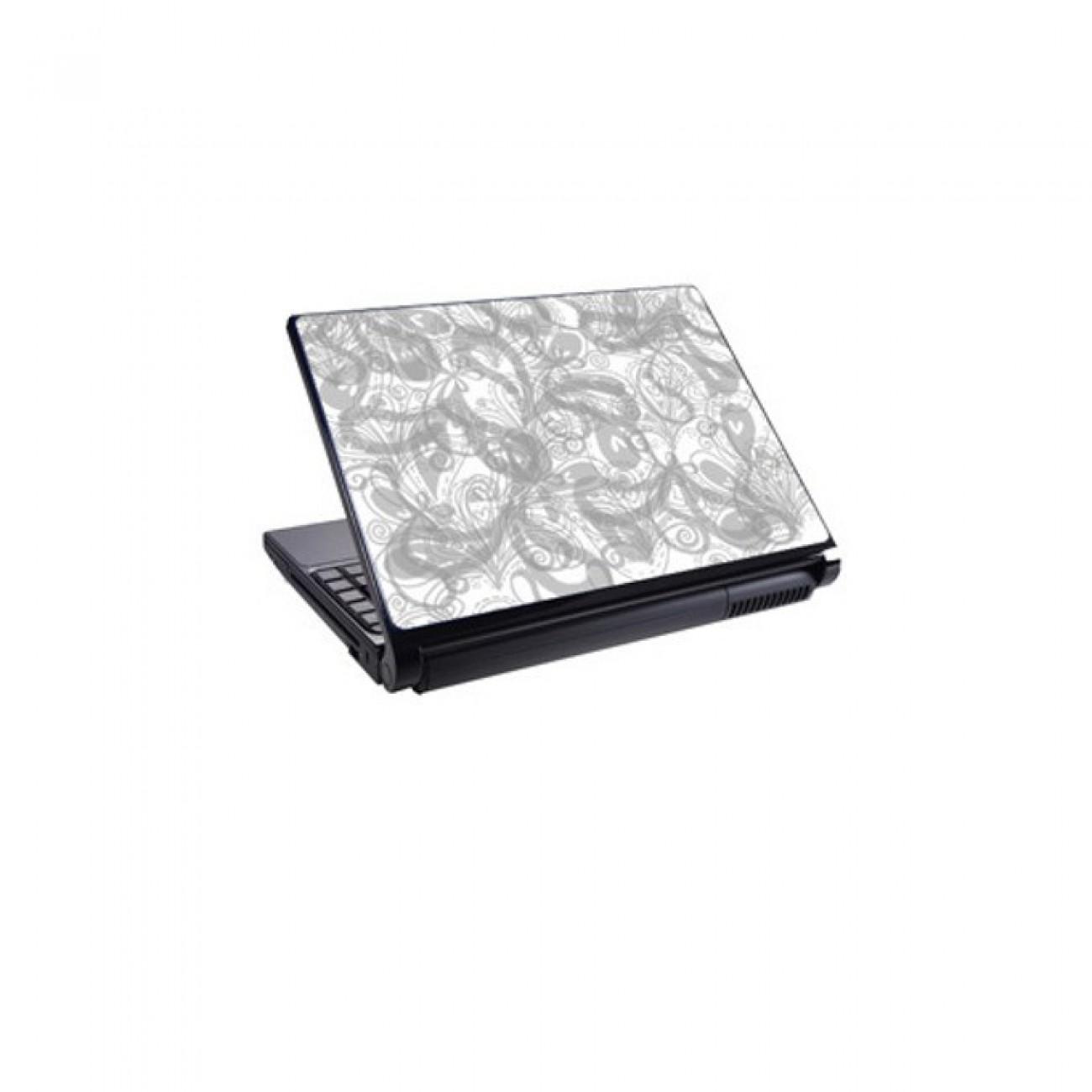 Декорация /скин/ Fullmark LS0022, за лаптопи до 26.7 x 39.37cm, бяло-сив в Други аксесоари за Лаптопи -  | Alleop