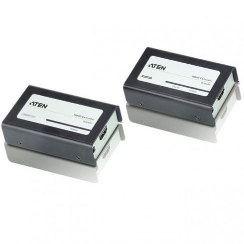 KVM екстендър ATEN VE800A, от HDMI(ж) през мрежови кабел(RJ45ж) към HDMI(ж), 2 устройства в KVM сплитери и превключватели -    Alleop