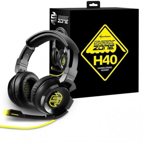Слушалки Sharkoon Zone H40, микрофон, USB, 3.5mm Jack, 20 Hz - 20 kHz, черни в Слушалки -  | Alleop