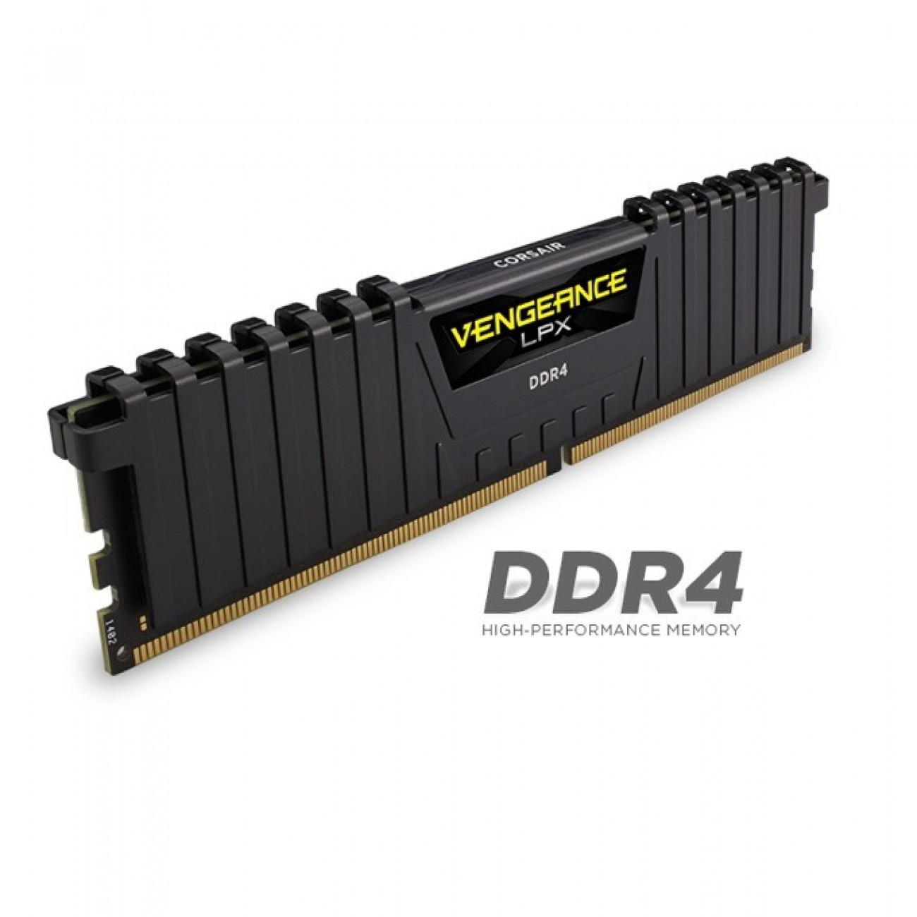 2x8GB DDR4 3000MHz, Corsair Vengeance LPX CMK16GX4M2B3000C15, 1.35V в Настолни компютри Памети -    Alleop