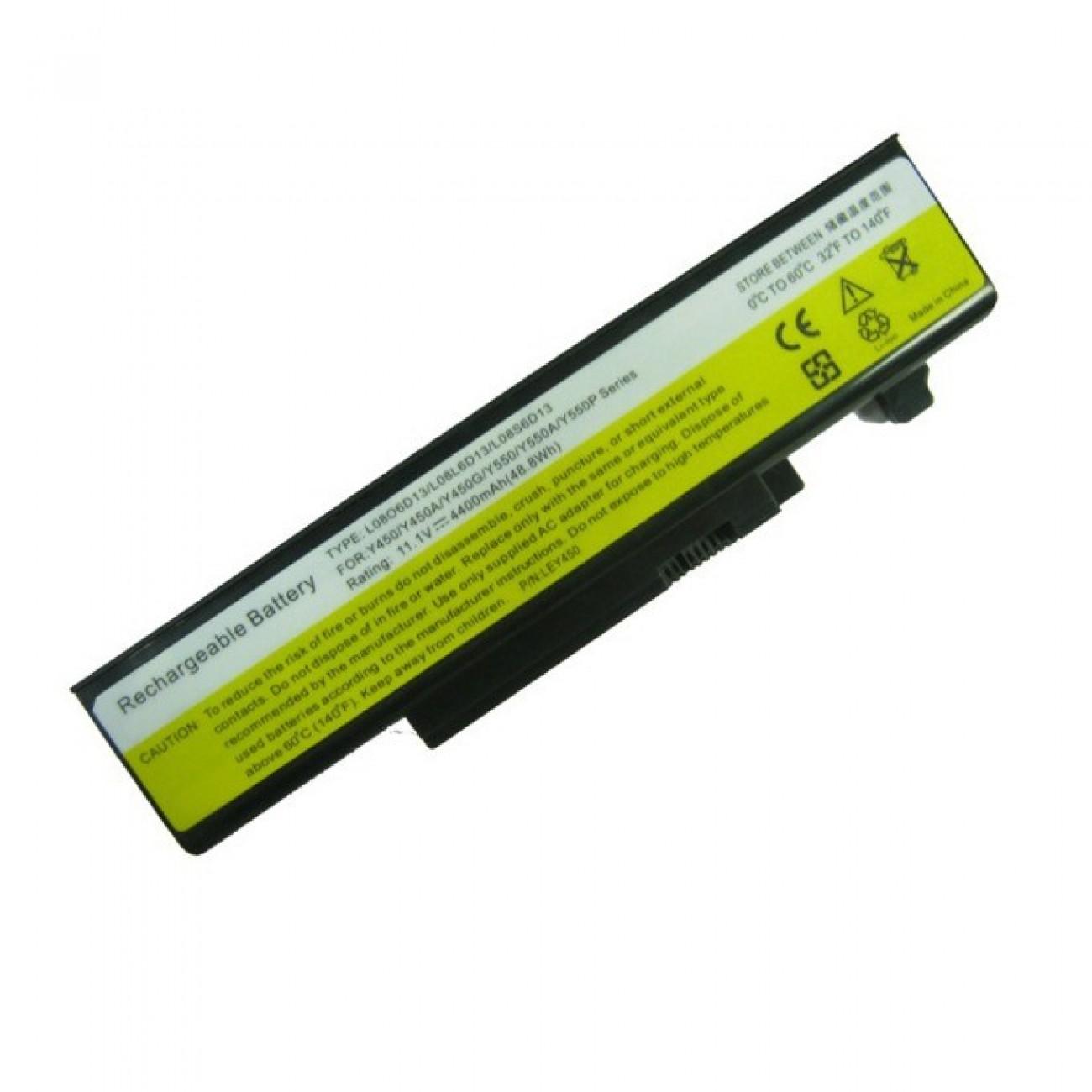 Батерия (заместител) за Lenovo IdeaPad, съвместима с Y450/Y550, 6cell, 11.1V, 4400mAh в Батерии за Лаптоп -  | Alleop