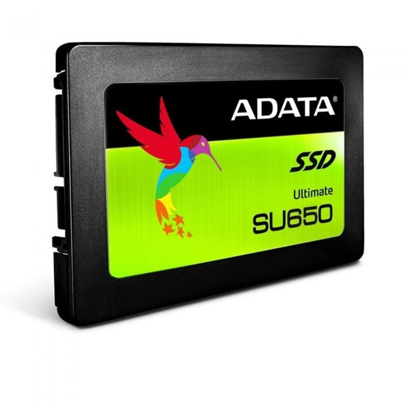 SSD 240GB A-Data SU650, SATA 6Gb/s, 2.5(6.35 cm), скорост на четене 520MB/s, скорост на запис 450MB/s в SSD дискове -  | Alleop