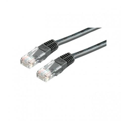 Пач кабел Roline, UTP, Cat.6, 1.5m, черен в Кабели - медни -  | Alleop
