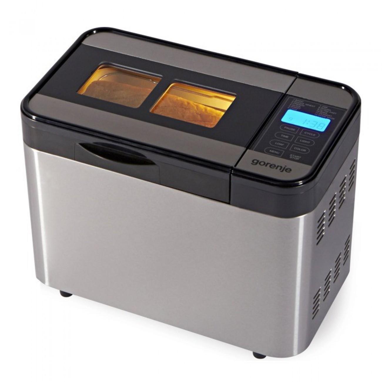 Хлебопекарна Gorenje BM 1400 E, 815W, 12 програми, aвтоматично набухване на тесто, функция за поддържане на топлината, сребриста в Хлебопекарни -    Alleop