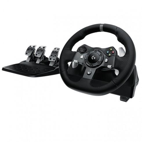 Волан Logitech Driving Force G920, 900 въртене, два мотора за вибрация и реализъм, USB, за XboxOne/PC в Геймпади, Волани, Джойстици -  | Alleop