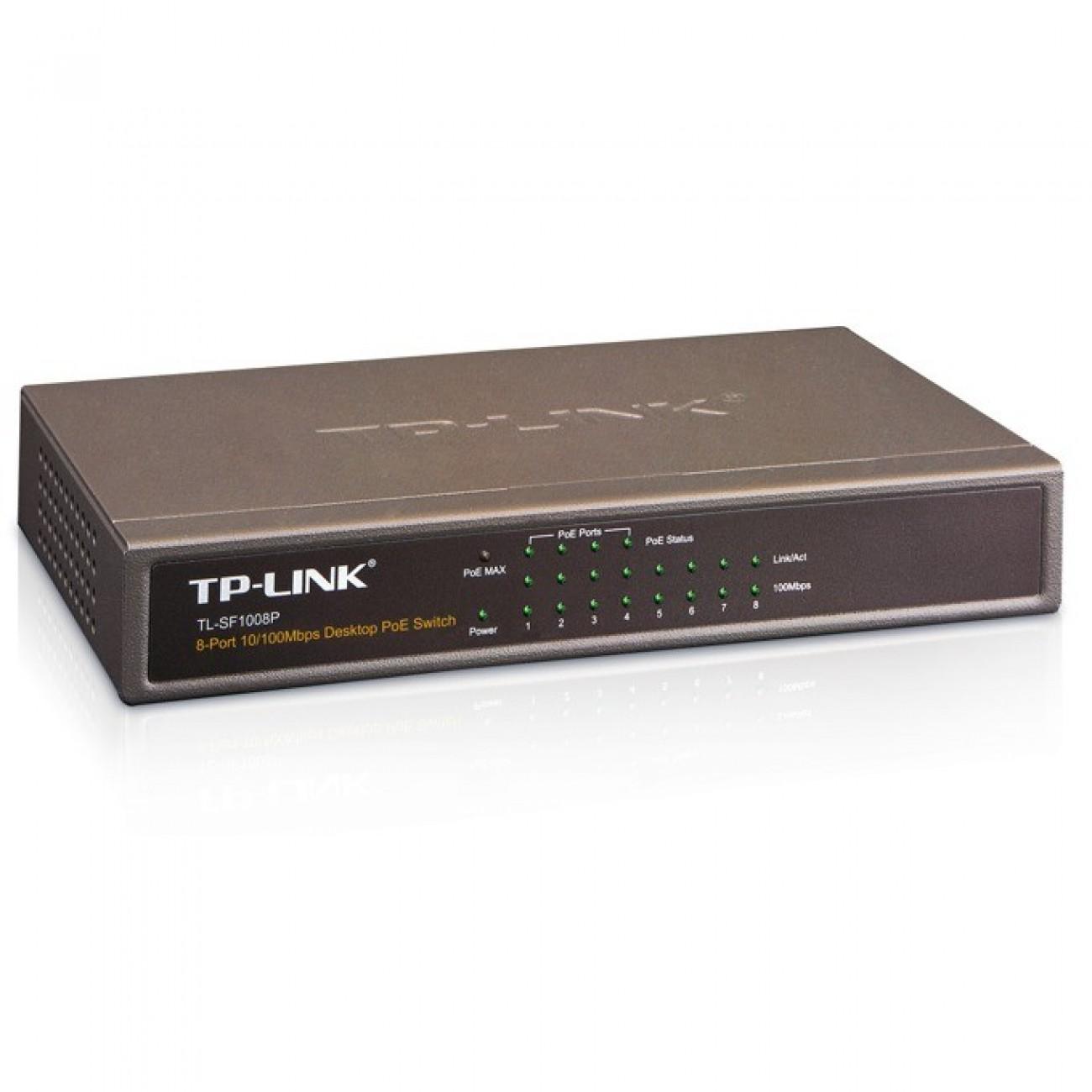Switch TP-Link TL-SF1008P, 10/100Mbs 8Port, PoE в Суич -    Alleop