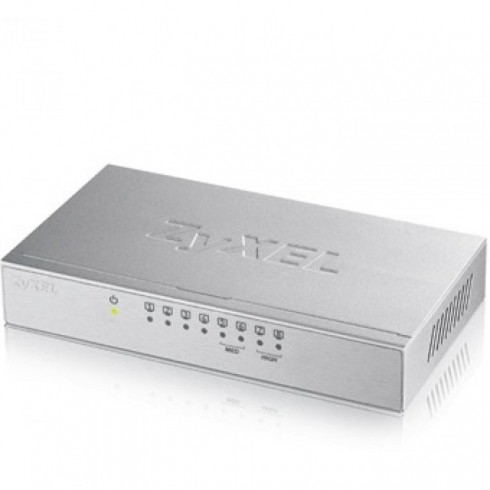 Switch ZyXEL GS-108B v3, 8-port 10/100/1000Mbps, desktop, metal housing в Суич -  | Alleop