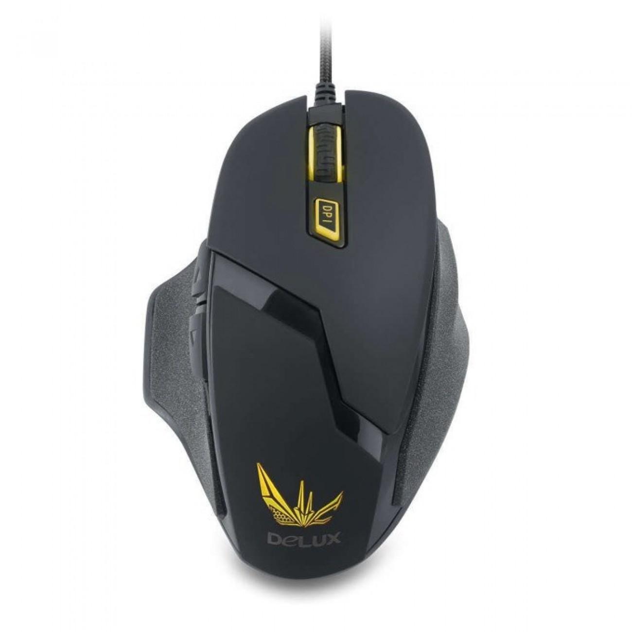 Мишка DELUX DLM 612BU USB, 4000 dpi, USB, черна в Мишки -  | Alleop