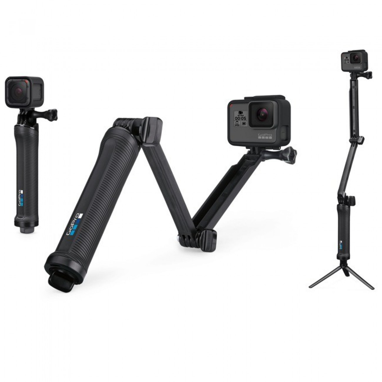 Mултифункционална ръкохватка GoPro 3-Way, съвместими за цялата серия на GoPro, водоустойчивa в Други Фото аксесоари -  | Alleop