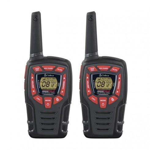 Walkie-Talkie Cobra AM 845, PMR, 8 канала, до 10 км обхат, LED фенер, функция Бебефон, черен в Радиостанции и Уоки Токи -  | Alleop