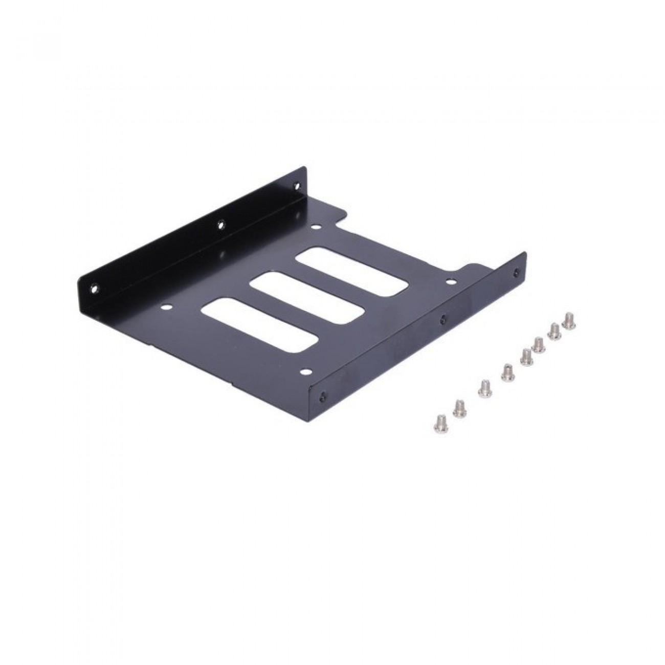 Преходник (mounting bracket) Makki MAKKI-HDB-250, от 2.5 HDD/SSD към 3.5 HDD/SSD, черен в Твърди дискове Аксесоари -    Alleop