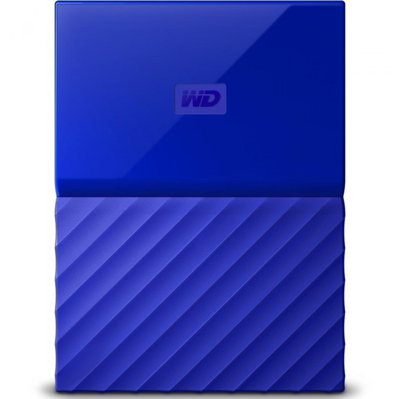 3TB Western Digital MyPassport, външен, 2.5(6.35cm), USB 3.0, син в Твърди дискове Външни -  | Alleop