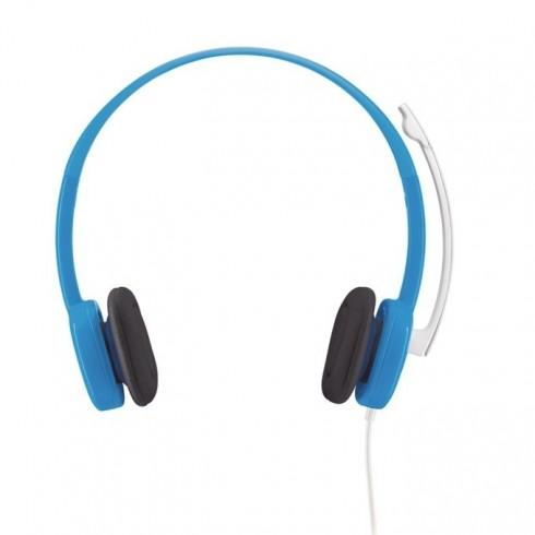Слушалки Logitech Stereo H150 Coconut, сини в Слушалки -    Alleop
