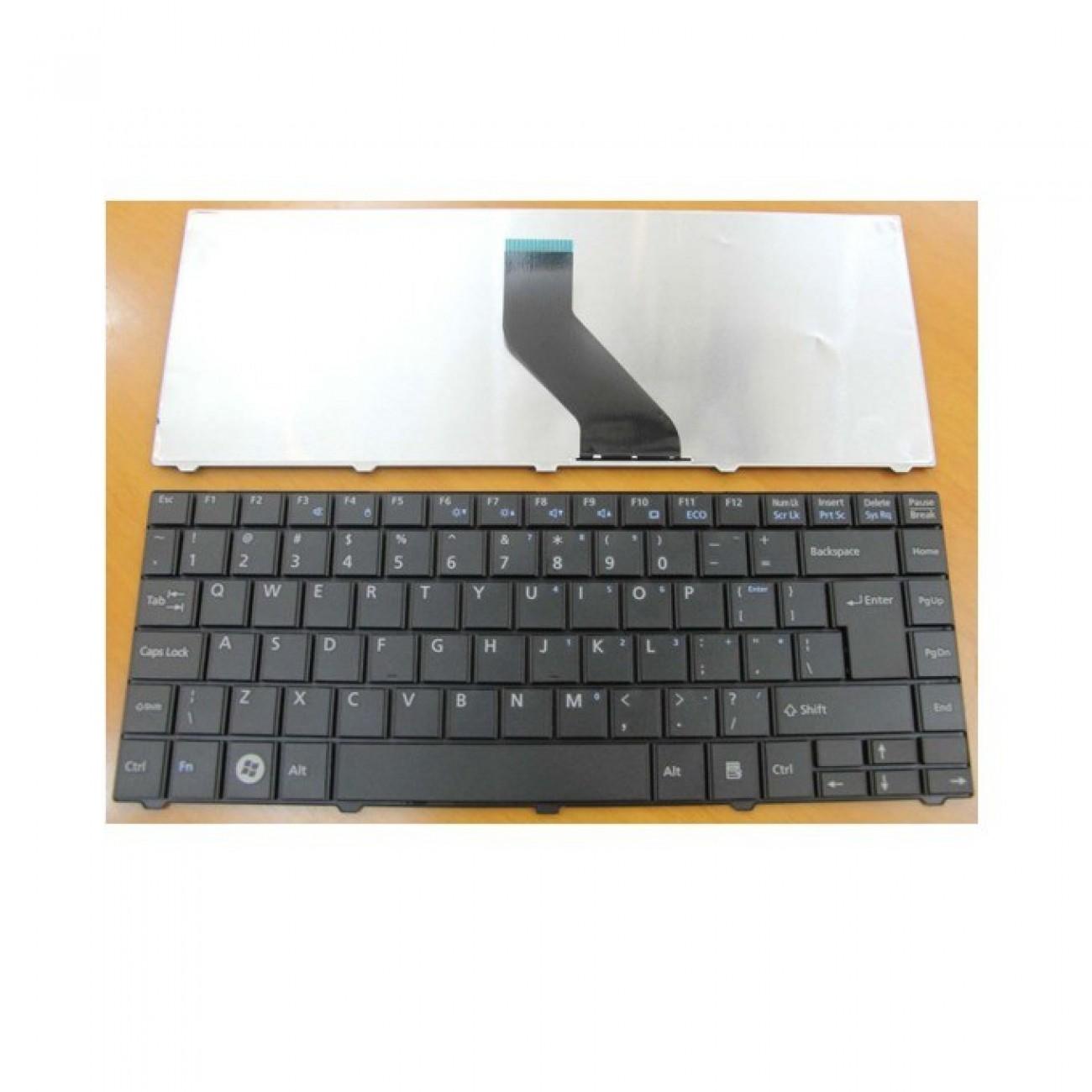 Клавиатура за Fujitsu Lifebook LH520 LH530 LH531 LH530G, черна, US с кирилица в Резервни части -  | Alleop