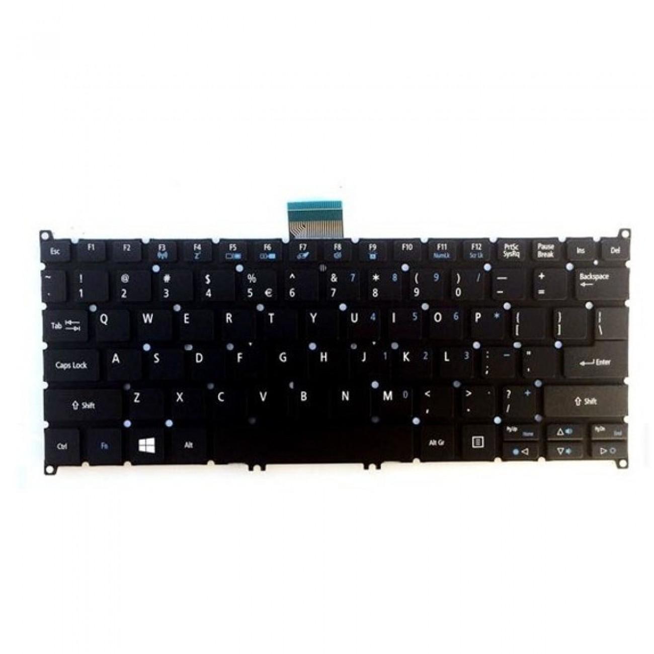 Клавиатура за лаптоп Acer, съвместима със серия Aspire V5-122P, без рамка, черна, US/UK в Резервни части -  | Alleop