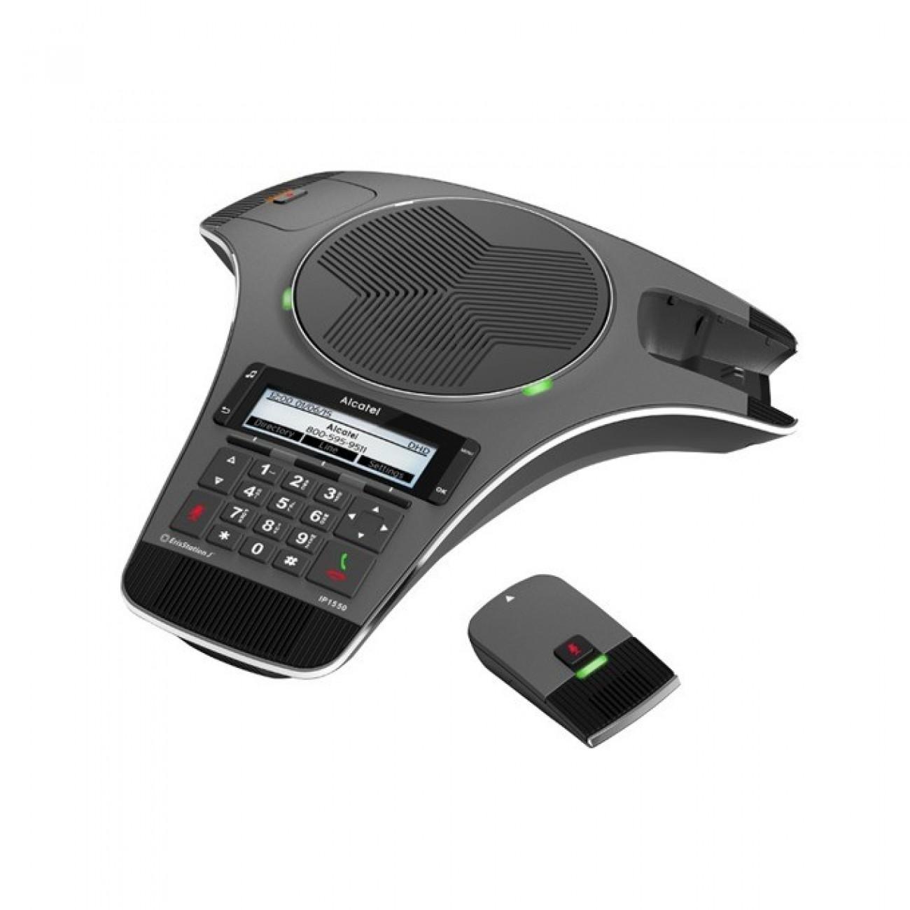 Конферентна станция Alcatel Conference IP1550, PoE, 158х57 LCD дисплей, DHCP, Bluetooth, 3x SIP акаунта, 1x 10/100 Mbps порт в Апарати за Конферентна връзка / Skype -  | Alleop