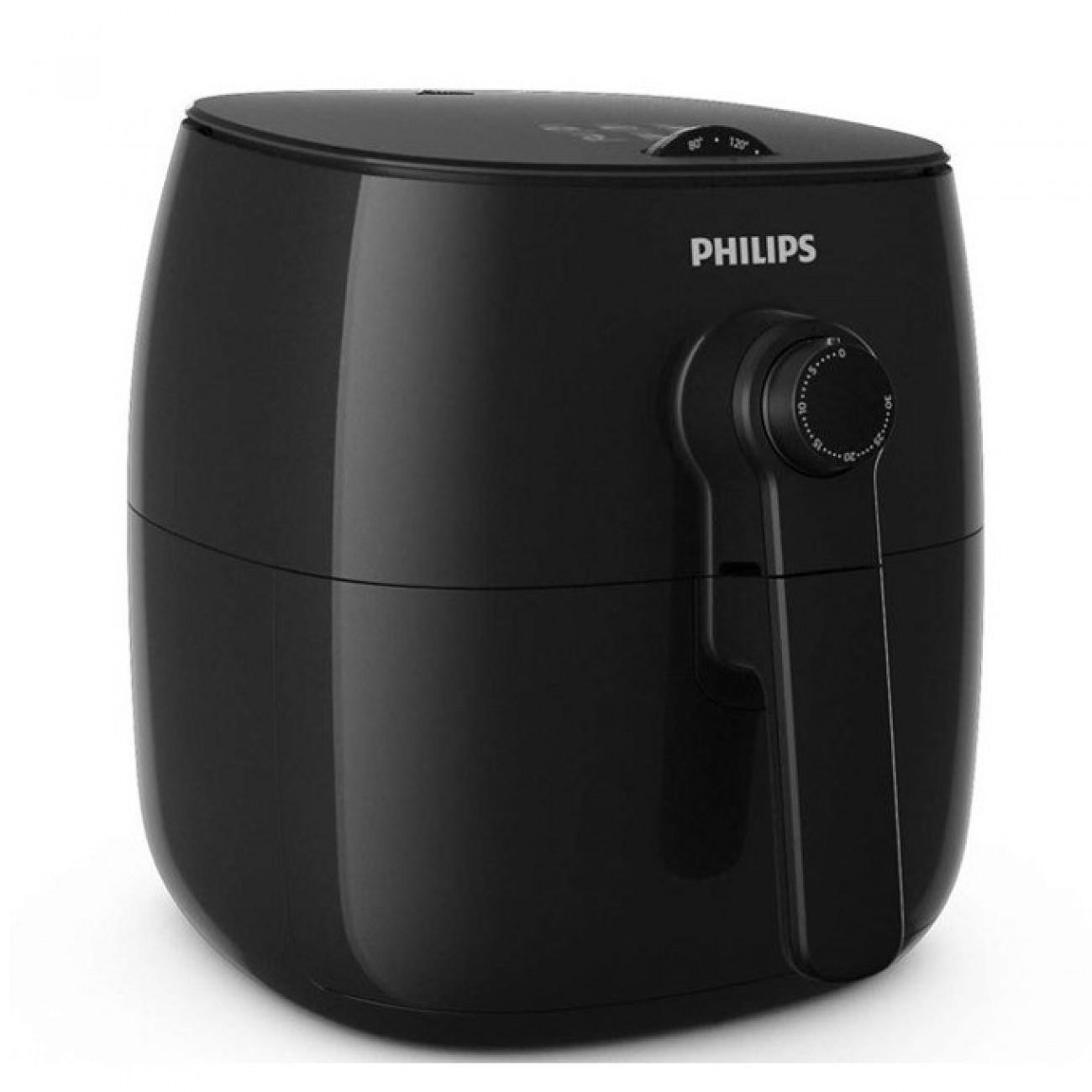 Фритюрник Philips HD 9621 / 90, 0,8 кг капацитет на кошницата, QuickClean, 1425W, автоматично изключване, TurboStar, черен в Фритюрници -  | Alleop