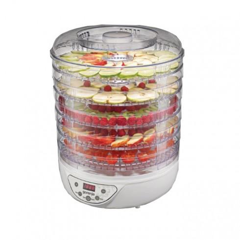 Уред за сушене на плодове и зеленчуци GORENJE FDK 24 DW, 240 W, 5 плочи, Електронно управление, Сушене на плодове, гъби, месо, билки и зеленчуци, бял в Други електроуреди -  | Alleop
