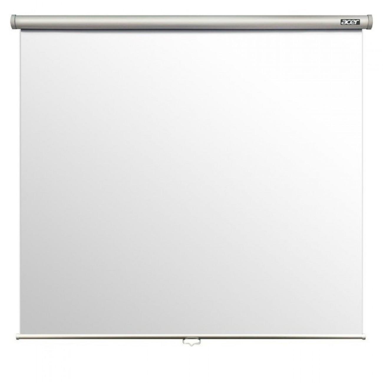 Екран Acer M87-S01MW, екран за стена/таван, 87(220.98 cm), 70x70(1740mm X 1740mm), 4:3 в Екрани за проектори -    Alleop