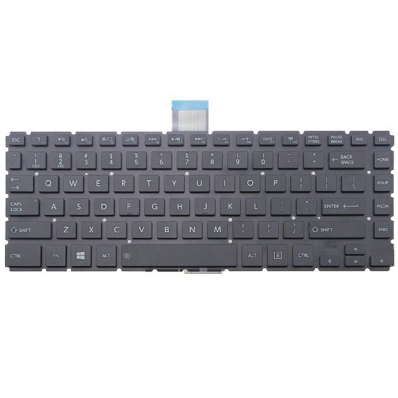 Клавиатура за Toshiba Satellite E45T-B L40-B S40-B, UK(голям enter), без рамка, черна в Резервни части -  | Alleop