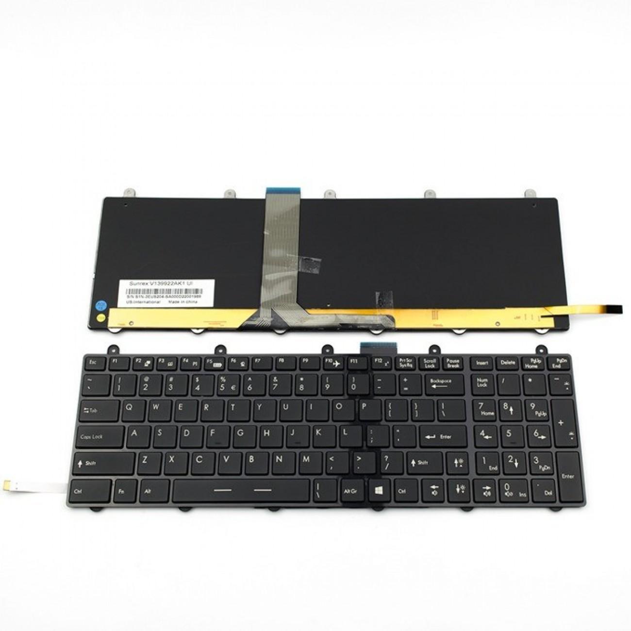 Клавиатура за MSI GT60/GT70/GT780/GT783/GX780, US, с рамка, с подсветка, черна в Резервни части -  | Alleop