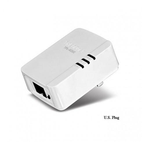 TRENDnet TPL-406E, Powerline AV Nano, 500Mbps, 1x гигабитов Ethernet порт в Powerline мрежи -  | Alleop