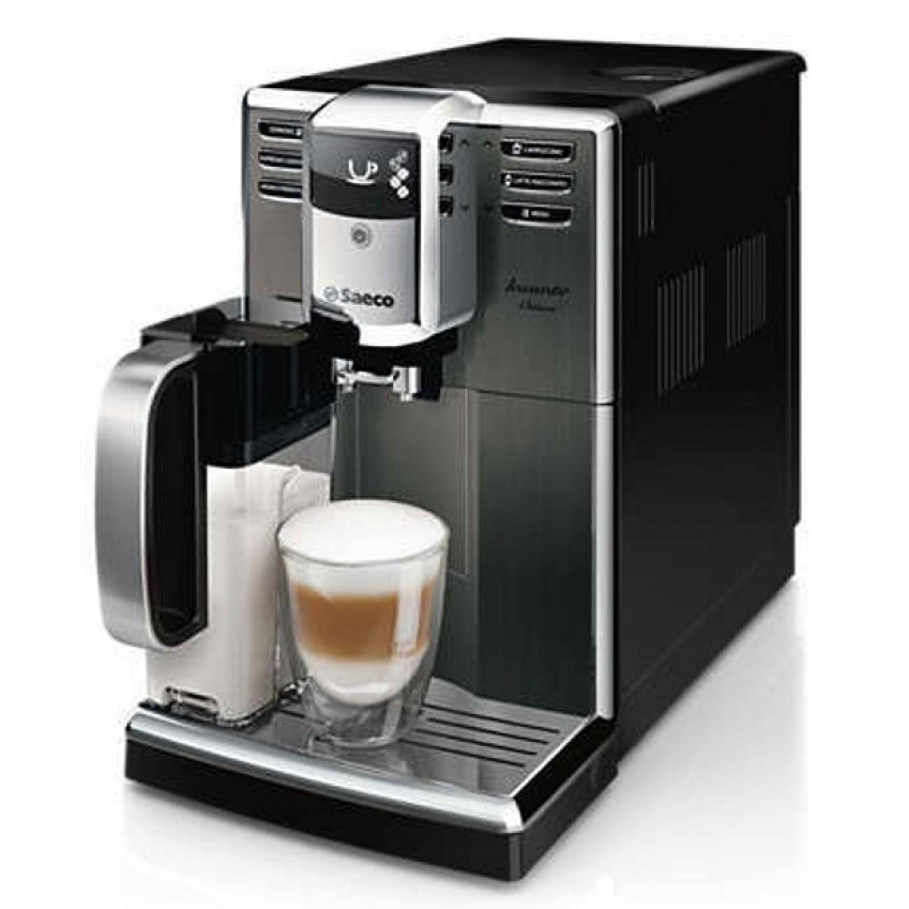 Автоматична еспресо машина Philips HD8922/09, 1850W, 15 bar налягане, титанова неръждаема стомана, 5-степенна регулируема мелачка, черна в Кафемашини -  | Alleop