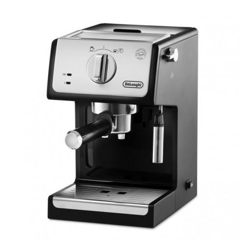 Ръчна еспресо машина Delonghi ECP 33.21, 1100 W, 15 bar налягане, 3 цедки, 2 отделни термостата, плоча за затопляне на чашата, черна в Кафемашини -  | Alleop
