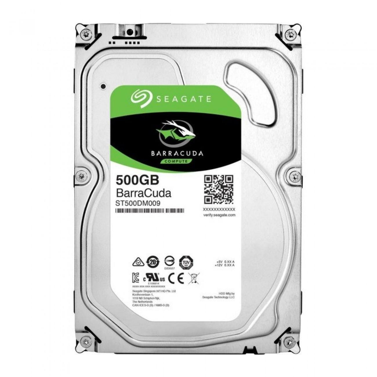 500GB Seagate BarraCuda, SATA 6Gb/s, 7200 rpm, 32MB, 3.5 (8.89cm) в Твърди дискове Вътрешни -    Alleop