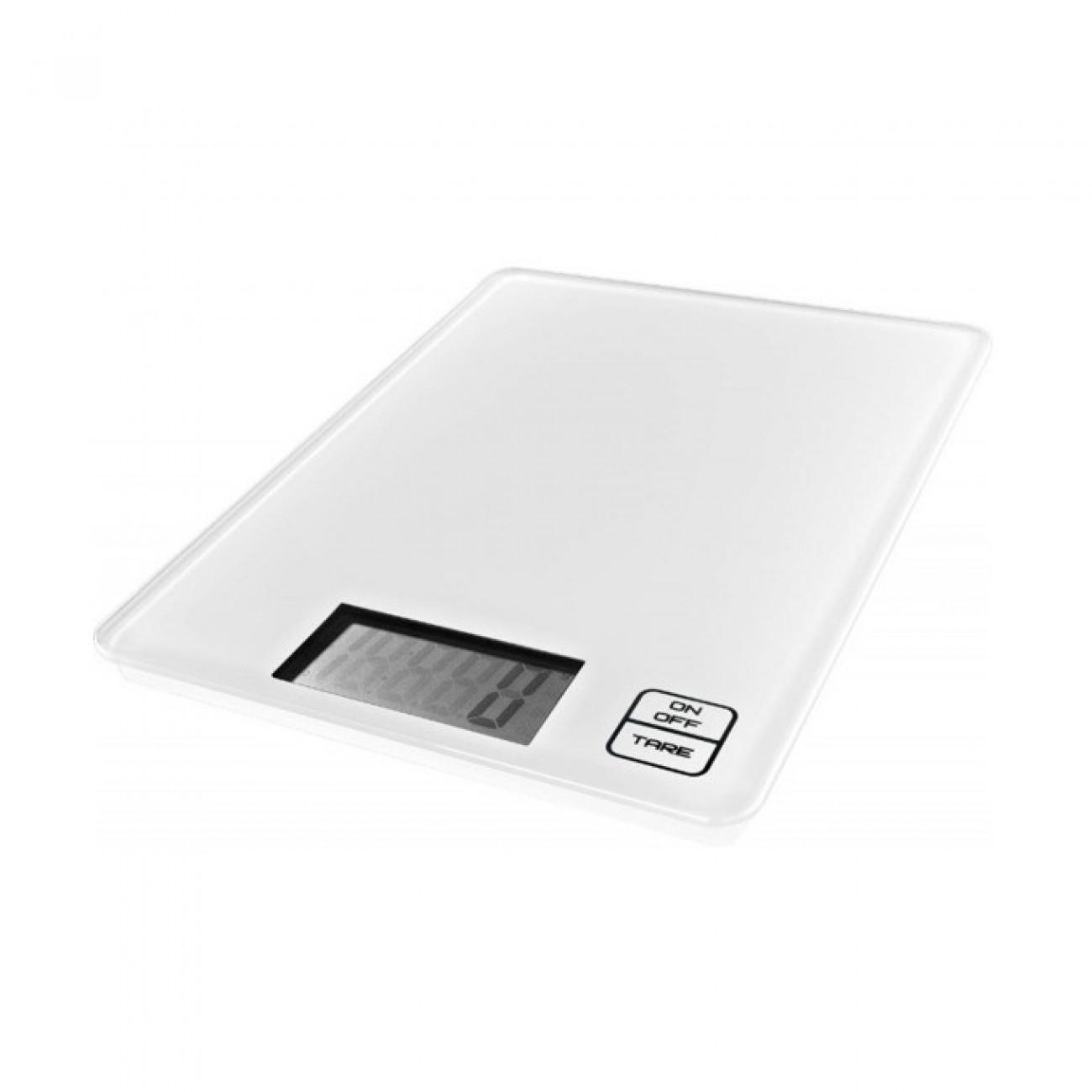 Кухненски кантар GORENJE KT 05 W, дигитален, до 5кг, Сензорно управление, LCD дисплей, Автоматично изключване, Закалено стъкло, Ултра слим дизайн, бял в Кухненски везни -  | Alleop