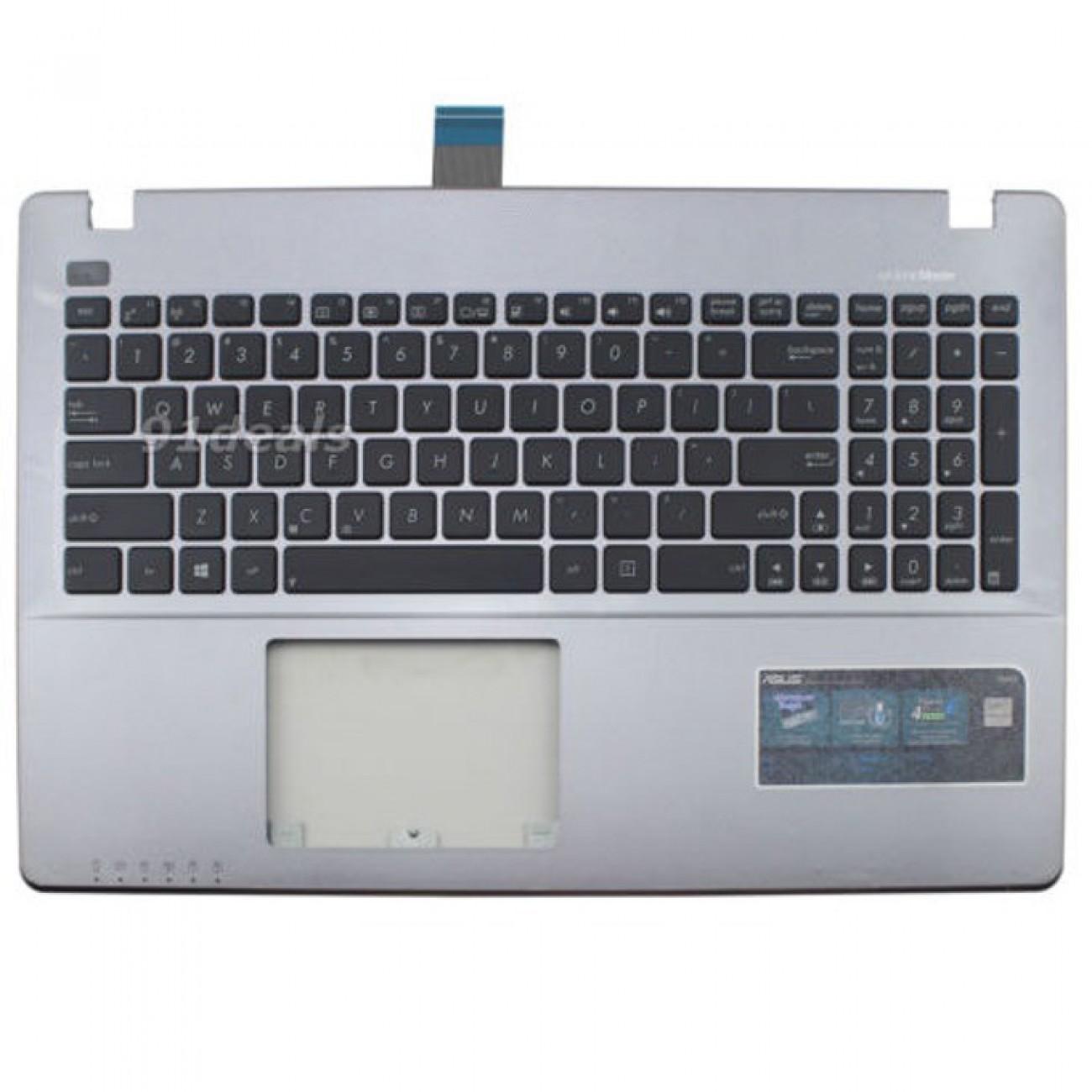 Клавиатура за ASUS X550 X550C X550VA X550LB, US, palmrest, бяла в Резервни части -  | Alleop