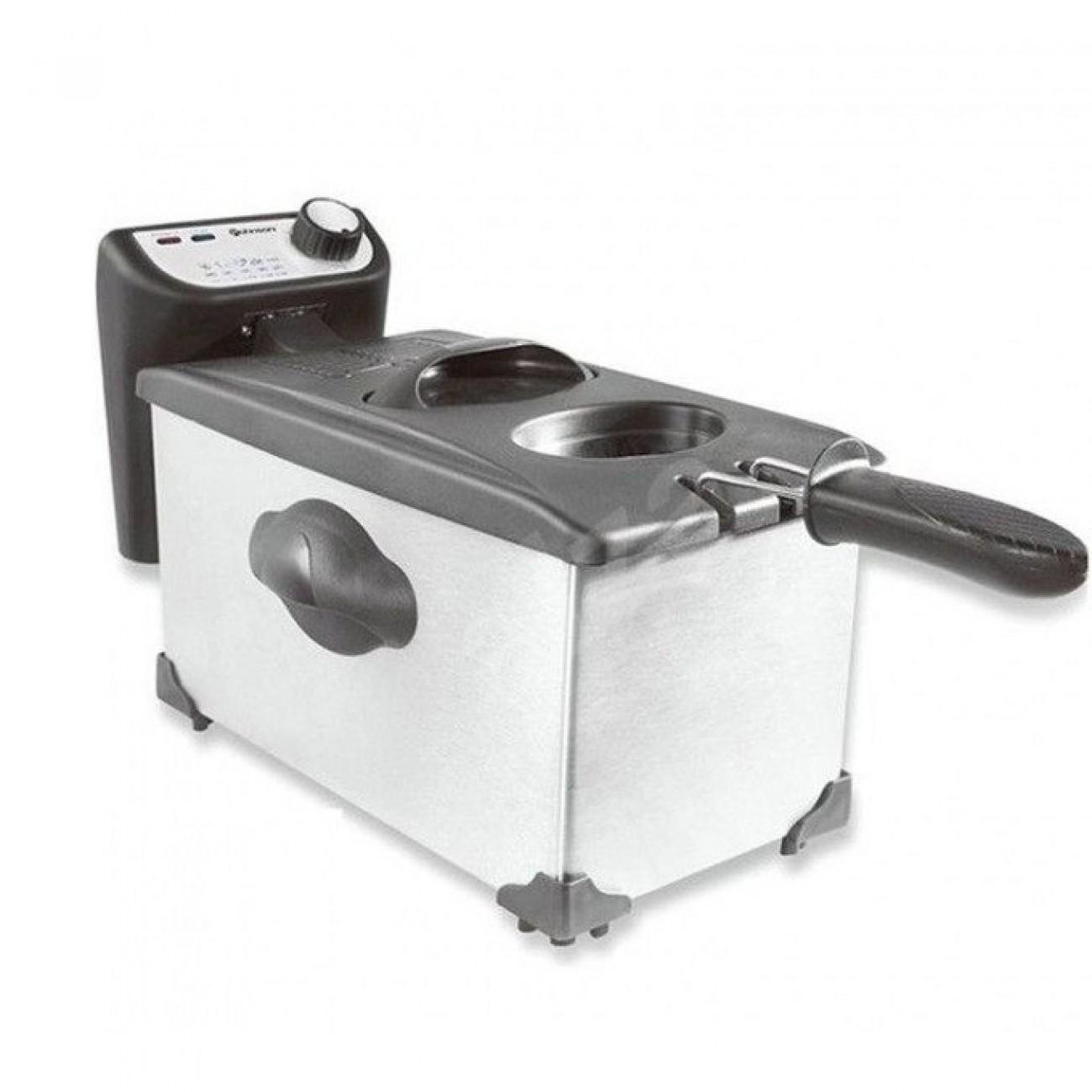 Фритюрник Rohnson R 281, 3 л. вместимост, термостат, 2000 W, инокс в Фритюрници -  | Alleop