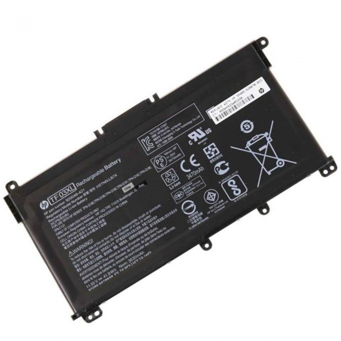 Батерия (оригинална) за HP Pavilion, съвместима с модели 14 Pavilion 15 TF03XL, 11.1V 3630mAh