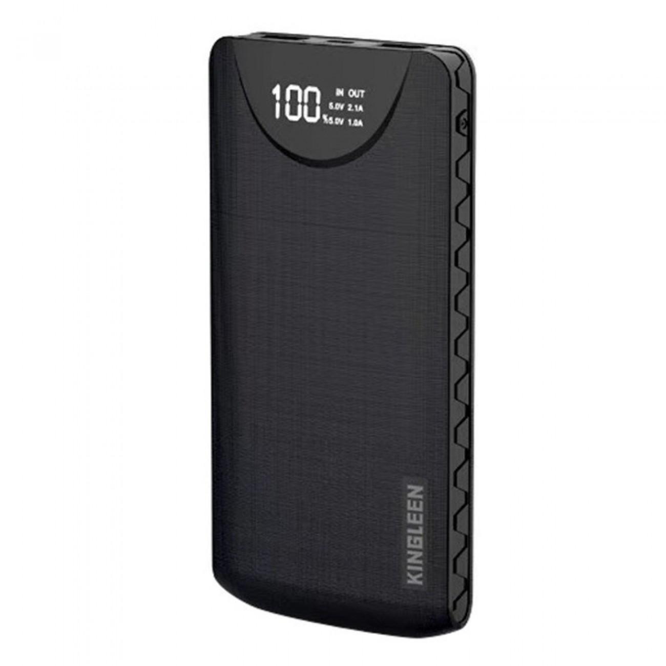 Външна батерия /power bank/ Kingleen 338S Double USB, 10000mAh, черна в Външни батерии - Други   Alleop