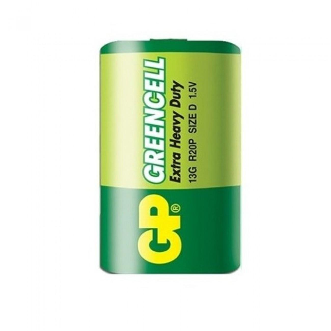 Батерия цинкова GP 13G-2S2, D, R20P, 1.5V, 1бр., bulk в Стандартни Еднократни батерии - GP Batteries   Alleop