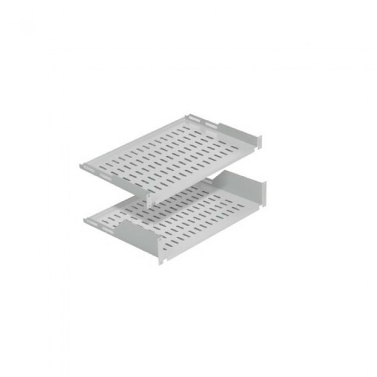 Тава Mirsan MR.RAK1U30, 19, 1U, за комуникационен шкаф, 486x300x44мм, 30кг товароносимост, сива в Мрежови шкафове - Mirsan | Alleop