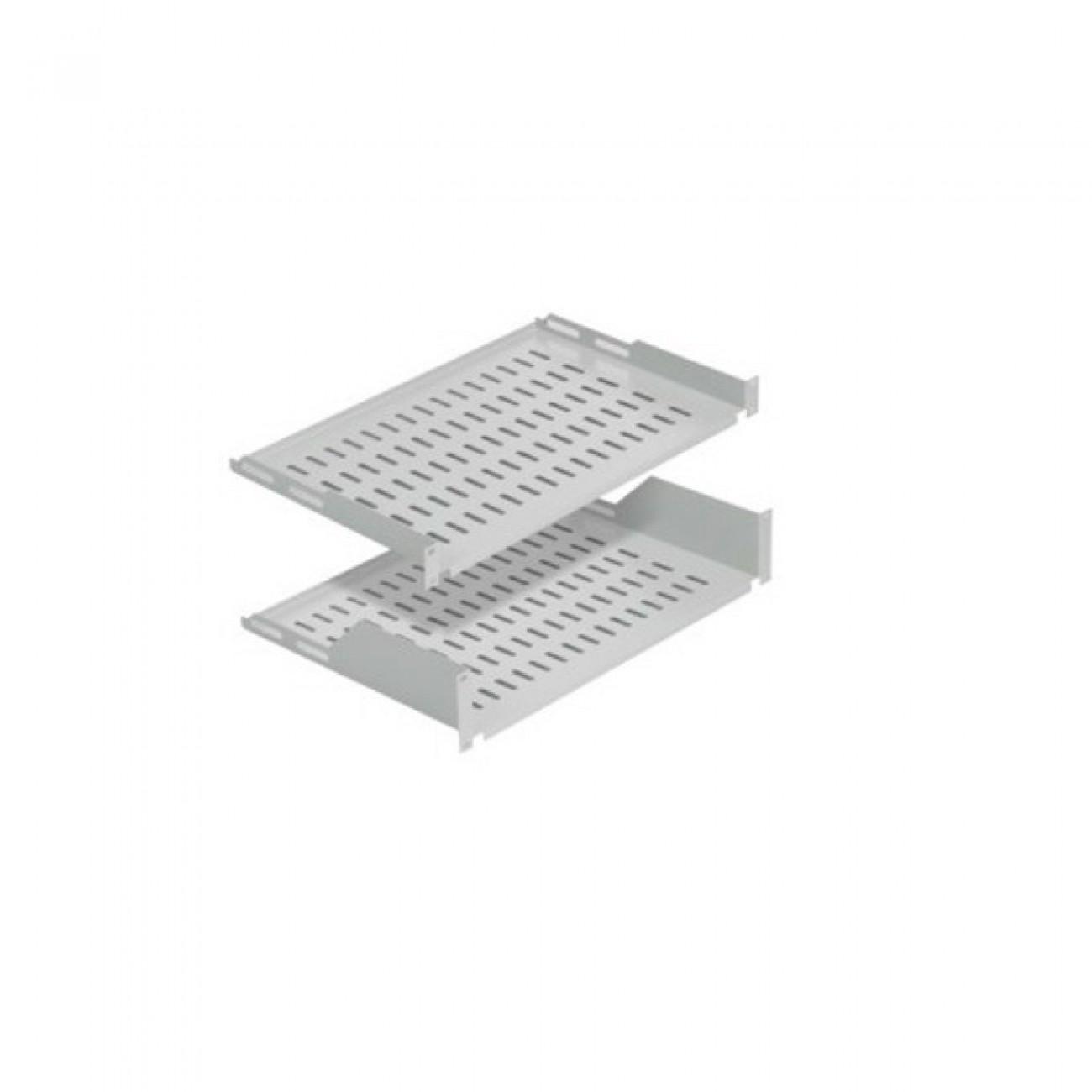 Тава Mirsan MR.RAK1U25, 19, 1U, за комуникационен шкаф, 486x250x44мм, 30кг товароносимост, сива в Мрежови шкафове - Mirsan | Alleop