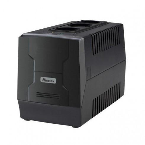 Стабилизатор Mustek PowerMate 1000 AVR 1000-LED-AVR-T10, 1000VA/600W, 3x шуко в Eлектрически филтри - Mustek   Alleop